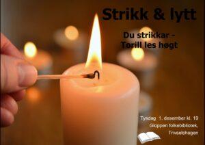 Strikk & lytt @ Gloppen folkebibliotek, Trivselshagen
