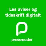 Informasjonsbilete med påskrift: Les aviser og tidsskrift digitalt med Pressreader